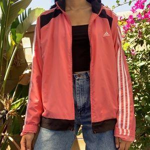 pink adidas windbreaker track jacket